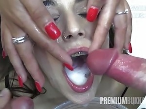 free asian and latina bukkake videos