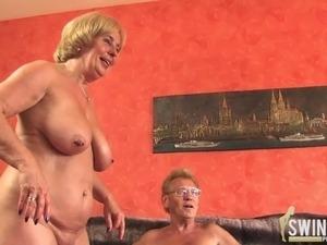 redhead threesome video