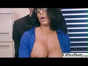 busty blonde office sex