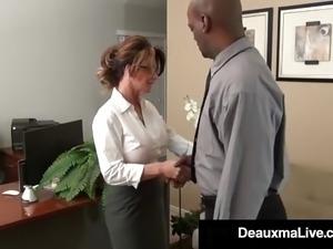 Deauxma big tits at work