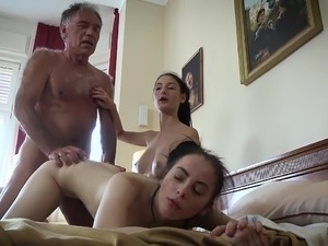 old lesbians vs young girls forced