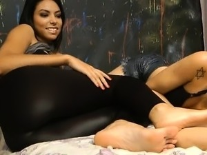 Lesbian foot fetish video