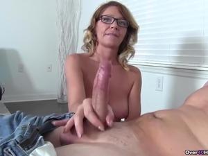 mature cum handjob vids