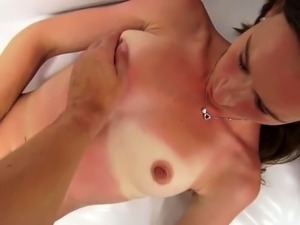 young blonde woodman casting video