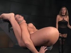 Blonde huge dildo sex