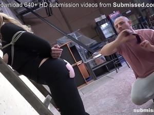 young blonde rides cock