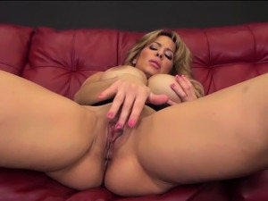 busty blonde solo movies