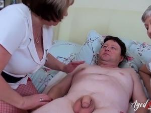 mature aunt doctor massage video